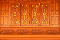Traditional Thai style monk's house windows Stock Images