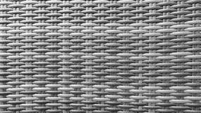 Traditional Thai Style Monotone Black and White Handicraft Wood Rattan Weave Pattern Background Texture Surface for Furniture Mate Royalty Free Stock Photo