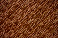 Traditional thai style nature background of brown handicraft weave texture wicker surface for furniture material.  Stock Images