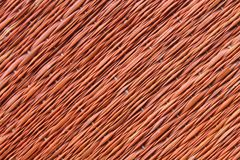 Traditional thai style nature background of brown handicraft weave texture wicker surface for furniture material Stock Image