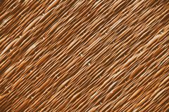 Traditional thai style nature background of brown handicraft weave texture wicker surface for furniture material.  Royalty Free Stock Image