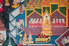 Traditional Thai style painting art Royalty Free Stock Photo