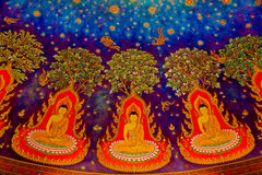 Traditional Thai style painting art Royalty Free Stock Image