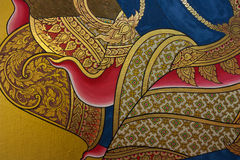 Traditional Thai style painting art Royalty Free Stock Photography