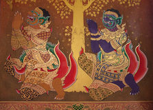 Traditional Thai style painting art. Stock Image