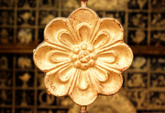 Traditional Thai style pattern. Gold Royalty Free Stock Images