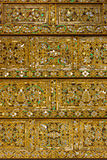 Traditional Thai style pattern decorative background in temple. Stock Images