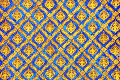 Traditional Thai style pattern decorative in temple Stock Photo