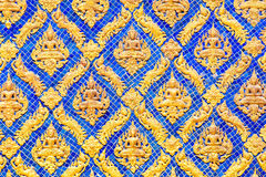 Traditional Thai style pattern decorative in temple Royalty Free Stock Images