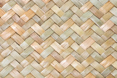 Traditional thai style pattern nature background of brown handicraft weave texture wicker surface for furniture materia Royalty Free Stock Image