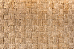 Traditional Thai style pattern nature background of brown handicraft weave texture wicker surface for furniture material. Royalty Free Stock Photography