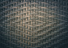 Traditional thai style pattern nature background of brown handicraft weave texture wicker surface for furniture material. Royalty Free Stock Images
