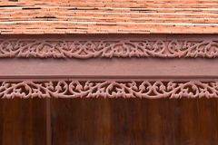 Traditional thai style roof and eave board Stock Image