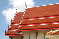Traditional thai style roof temple Royalty Free Stock Photos