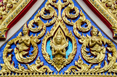 Traditional Thai style roof Stock Photos