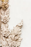 Traditional Thai style sculpture pattern Royalty Free Stock Photo