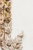 Traditional Thai style sculpture pattern Royalty Free Stock Photography