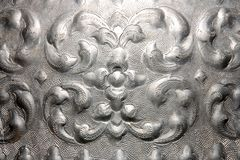 Traditional Thai style silver art Stock Image