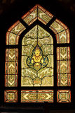 Traditional Thai style stained glass window Stock Photography