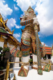 Traditional Thai style statue of Guard at Wat Phra Kaeo, Temple Royalty Free Stock Images