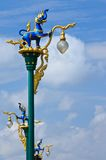 Traditional Thai style street lamp pillar Royalty Free Stock Photo