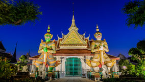 Traditional Thai style Stucco & Naga, Wood Carving Tympanum of Thai Roof Temple at Wat Benchamabopit Dusitvanaram. Traditional Thai style Stucco & Naga, Wood Royalty Free Stock Photo