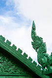 Traditional Thai style stucco on the roof. Traditional Thai style Green stucco on the roof Royalty Free Stock Image