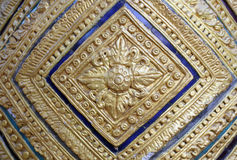 Traditional Thai style stucco. Texture Stock Images