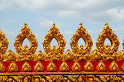 Traditional thai style at the temple Stock Photos