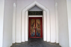 Traditional Thai style temple door Royalty Free Stock Photo