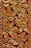 Traditional Thai style on temple door Stock Photo