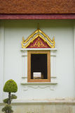 Traditional thai style temple window. Royalty Free Stock Images