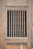 Traditional thai style temple window. Stock Photography