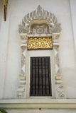 Traditional thai style temple window. Stock Photos