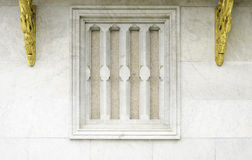 Traditional thai style temple window. With marble material Royalty Free Stock Photos
