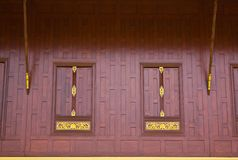 Traditional Thai style window Royalty Free Stock Images