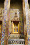 Traditional Thai style window and decoration on the wall. Bangkok Royalty Free Stock Photo