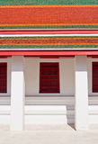 Traditional Thai style window and roof temple Royalty Free Stock Photos