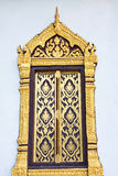 Traditional Thai style window  temple. Chaingmai Province, Thailand Stock Photo