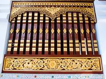 Traditional Thai style window. Of Thai temple Royalty Free Stock Photos