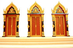 Traditional Thai style window temple.  Royalty Free Stock Photography
