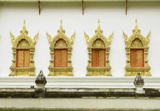 Traditional Thai style window temple. Traditional Thai style window temple Royalty Free Stock Photos