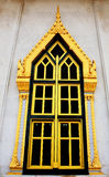 Traditional Thai style window temple. Traditional Thai style Buddhist temple window Stock Photography