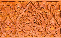 Traditional Thai style wood carving Stock Image