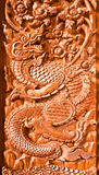 Traditional Thai style wood carving Stock Photos