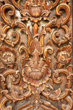 Traditional Thai style wood carving Royalty Free Stock Photo