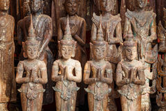 Traditional Thai style wood carving Royalty Free Stock Photos