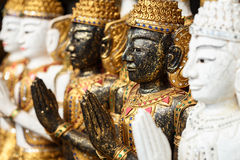 Traditional Thai style wood carving Royalty Free Stock Images