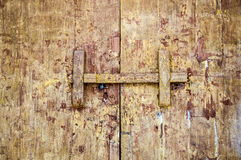 Traditional Thai style wooden door latch Stock Photography