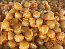 Traditional Thai sweet snack cuisine: Golden Jackfruit Seeds, Mung Bean Marzipan and Egg Yolk Dessert Met Khanoon. It gives rich stock photos